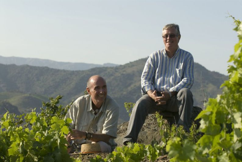 The owners of the winery Vall Llach