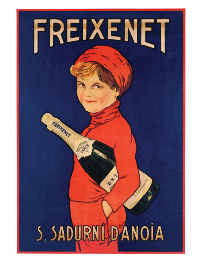 Typical Freixenet poster from a few decades ago