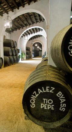 Interior of Gonzalez Byass´s winery