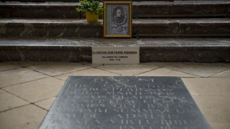Dom Pérignon's tombstone