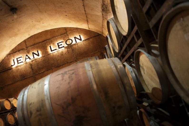 Cellars of the winery Jean Leon