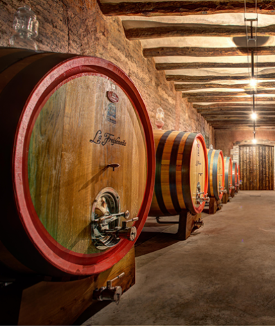 Interior view of the La Freixeneda cellar