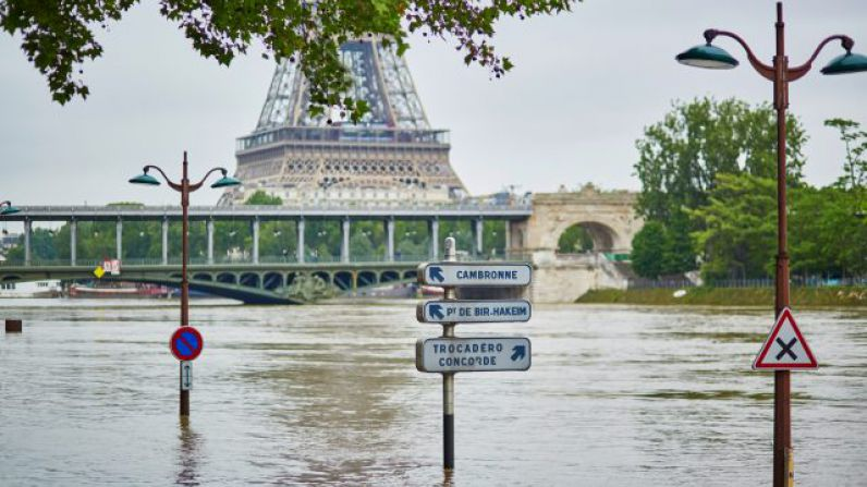 Wine Cellars at risk in Flooded Paris