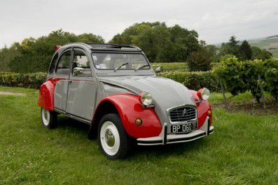The 2CV in which we took our excursion up to Rilly-la-Montagne