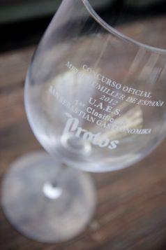 Imagen del trofeo de Mejor Sumiller de España 2012