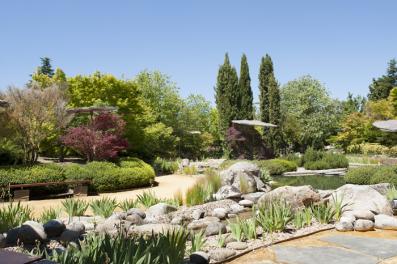 Jardin en las instalaciones de Vega Sicilia