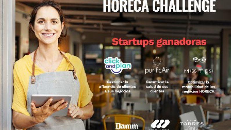 Las startups Click And Plan, PurificAir y Miss Tipsi ganan Horeca Challenge, organizado por Mediapro, Damm y Familia Torres