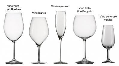 Principales tipos de copa de vino
