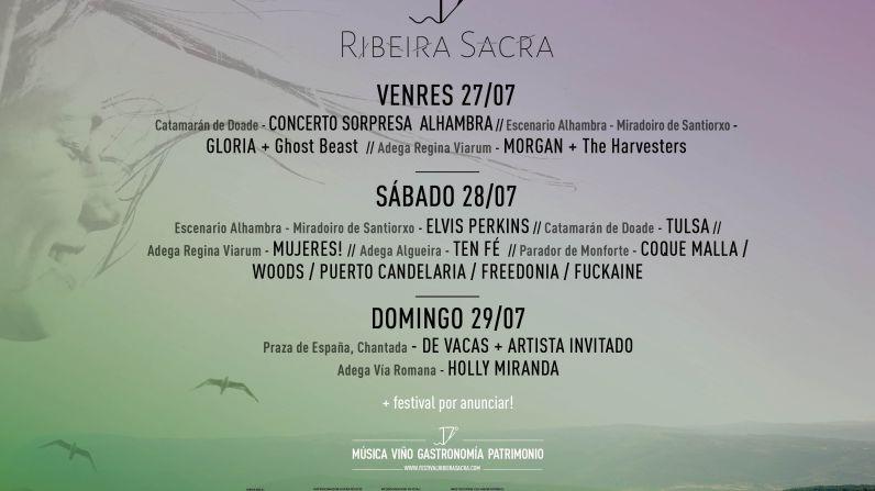 """El Festival 17º Ribeira Sacra presenta el cartel musical completo que ofrecerá del 27 al 29 de julio en su edición """"17º Paisaxe"""""""