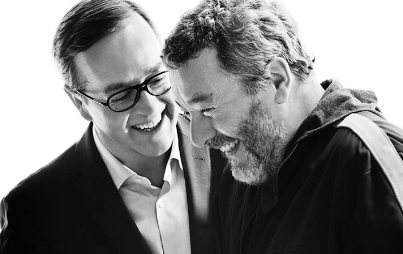 El Presidente de Louis Roederer, Frédéric Rouzaud, con el diseñador Philippe Starck