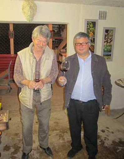 Ramon Francàs y Jean Claude Vidal, propietario de Domaine du Banneret