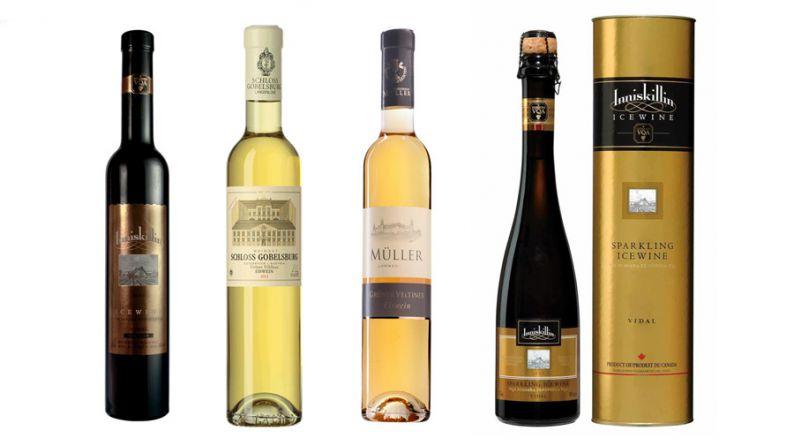 Algunos vinos representativos de los vinos de hielo