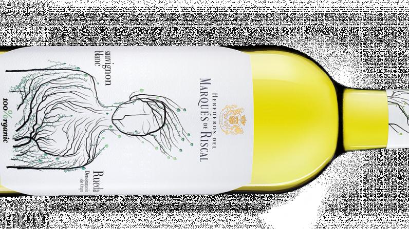 """Marqués de Riscal Sauvignon Blanc 2018, Premio al """"Mejor producto innovador en bebidas ecológicas""""."""