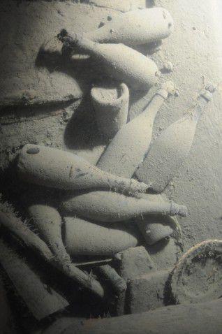 Botellas de Veuve Clicquot halladas en el fondo marino del mar Báltico