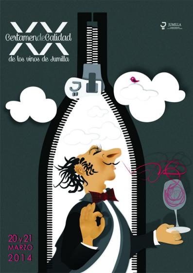 Cartel conmemorativo del Certamen de Calidad de Vinos de Jumilla 2014