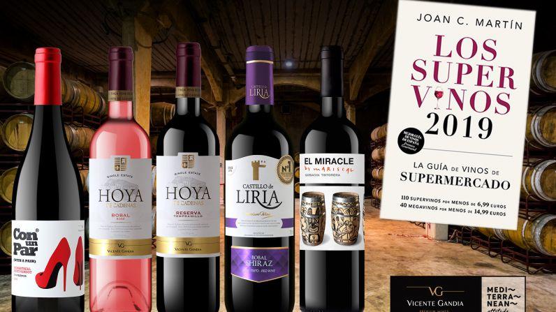5 vinos de Bodegas Vicente Gandía en la Guía de los Supervinos 2019.