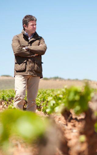 Álvaro Palacios en sus viñedos
